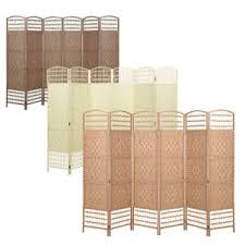 Rattan Room Divider Hand Made Wicker Room Divider Separator Privacy Screen 3 Colours 3