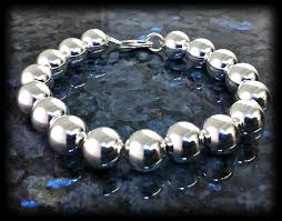 silver bead chain bracelet images 10mm silver bead bracelet jpg