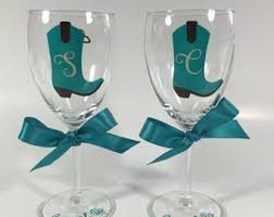 wine glass with initials personalized party favors gifts by cutitoutvinyl on etsy