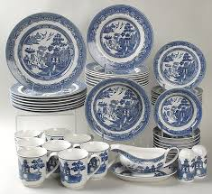 Johnson Brothers Dinnerware Dinnerware Johnson 46 Willow Blue Set By Johnson Brothers At Replacements Ltd