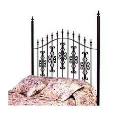 buy gothic gate wrought iron headboard metal finish gun metal