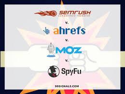 seo tools showdown semrush vs ahrefs vs moz pro vs spyfu