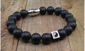 mens bracelet stones images Up to 81 off on men 39 s beaded stone bracelets groupon goods jpg