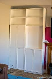 Ikea Built In Cabinets by Family Room Makeover Part 1 Installing Ikea Billy Bookcases
