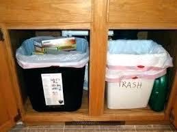 garbage can under the sink under sink trash can under cabinet trash compactor under cabinet