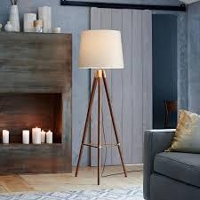 Tripod Floor Lamp Mid Century Wood Tripod Floor Lamp Walnut West Elm