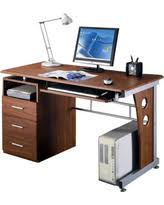 techni mobili double pedestal laminate computer desk chocolate memorial day bargains on techni mobili stylish computer office