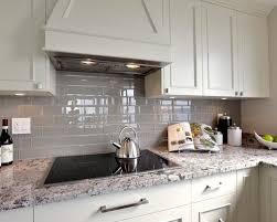 Excellent Wonderful Grey Glass Subway Tile Backsplash Gray Subway - Gray backsplash