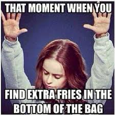 Meme Bag - extra fries in the bag christian meme dust off the bible