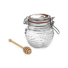 honeypot wedding registry kilner honey pot with wooden dipper bed bath beyond
