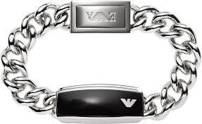 armani steel bracelet images Egs1729040 emporio armani mens sleek black matte id bracelet jpg