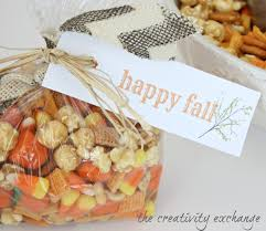 sweet u0026 salty fall snack mix with printable