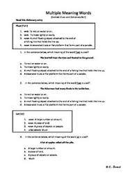 multiple meaning words worksheets 5th grade u0026 englishlinx com