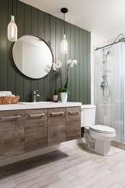 bathroom makeover using vertical shiplap appearance boards