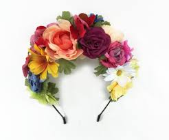 day of the dead headband day of the dead headpiece frida headpiece mexican flower
