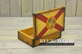 Floridas State Flag Florida State Flag Wooden Memory Box