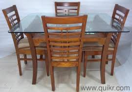 used wood dining table excellent condition gently used wooden dining table with glass top