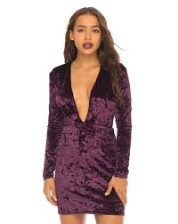 bodycon dresses plunge neck purple velvet bodycon dress with sleeves