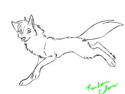 female wolf coloring rosedark silverwolf deviantart