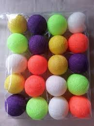 decorative lights cotton balls colours