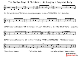 Pregnant Lady Meme - the twelve days of christmas as sung by a pregnant lady