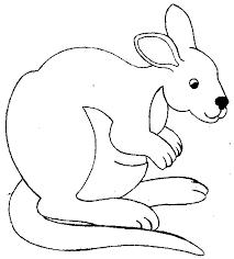 coloriage dans la savane kangourous à colorier allofamille