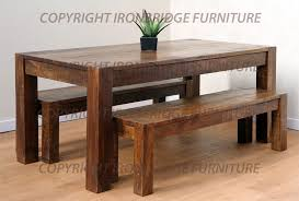 Rustic Dining Room Bench Sofa Alluring Rustic Kitchen Tables With Benches Amazing Dark