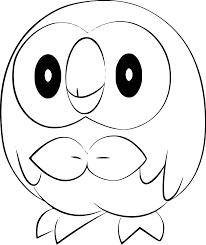 pokemon rowlet coloring page pokemon rowlet anime cute pokemon