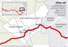 Norfolk Zip Code Map by Crude Oil Train Derailment Risk Has Lehigh Valley First Responders