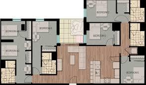 5 Bedroom Floor Plan by 5 Bedroom 4 Bathroom Side By Side