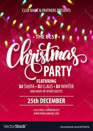 merry christmas party poster royalty free vector image