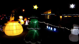 Outdoor Christmas Lights Decorations by Cool Outdoor Christmas Holiday Decorations With Inflatables And