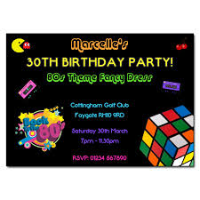 80s party invitations u2013 frenchkitten net