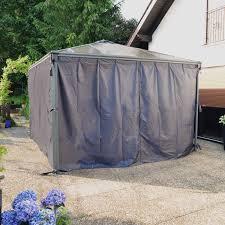 palram palermo gazebo privacy curtains 703126 walmart canada