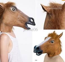 Halloween Costumes Mask Horse Head Mask Realistic Creepy Halloween Costume Novelty