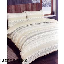Brushed Cotton Duvet Covers Buy Jeff Banks Brushed Cotton Natural Duvet Set At Home Bargains