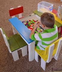 how to make a child s desk child s play table with storage table designs
