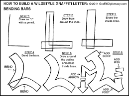 learn how to draw a wildstyle graffiti letter bending bars plus