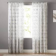 goods for life batik embroidery sheer window curtain