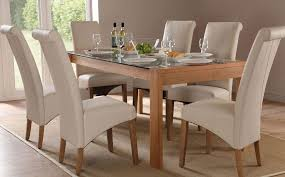 modern wooden chairs for dining table modern white oak dining table glass legs seats 6 8 for white wooden