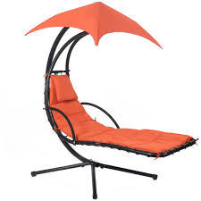 Chair Hammock With Stand Hanging Chaise Lounge Chair Arc Stand Air Porch Swing Hammock