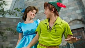 peter pan character meeting magic kingdom walt disney