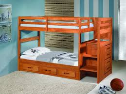 Bunk Bed With Stairs And Drawers Twin Bunk Beds With Stairs Drawers Before The White Wall Wood Bunk