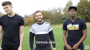 Challenge Ksi United S Juan Mata Takes Part In A Penalty Challenge With
