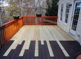 how to repair a sagging wood deck