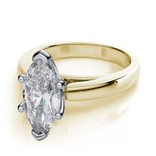 marquise cut engagement rings cathedral marquise cut solitaire engagement ring 18k