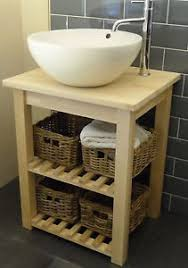washstand solid birch freestanding vanity unit for bathroom basin