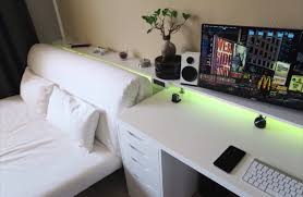 Gaming Desk Ideas by Bedroom Gaming Setup Tech Pinterest Gaming Setup Bedrooms