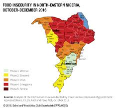 Nigeria Map Africa by Food Insecurity In North Eastern Nigeria October December 2016