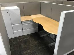 Cherry Desk Blended Of New U0026 Used Office Cubicles With Sit To Stand Desk Love